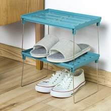 Folding Kitchen Shelf Bathroom Storage Rack Dust Drain Overlap Multilayer Type Snap Plastic