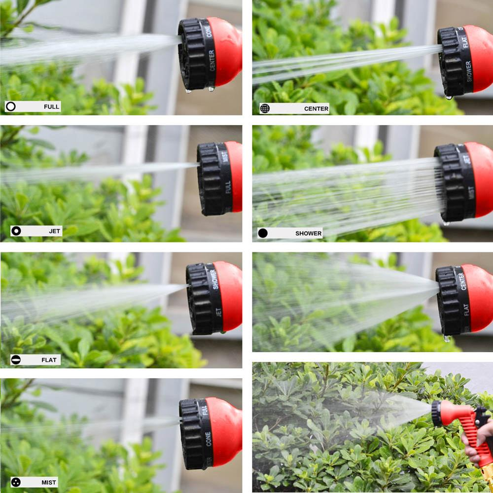 25FT 100FT Garden Hose Pipe With Spray Gun Expandable Flexible Water Sprayer To Watering Car Wash 25FT-100FT Garden Hose Pipe With Spray Gun Expandable Flexible Water Sprayer To Watering Car Wash Spray Nozzle Gun Plastic Hose