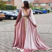 Марокканские розовые вечерние платья caftans винтажное вечернее