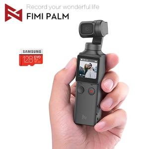 Image 1 - 재고 있음 FIMI 팜 짐벌 카메라 3 축 안정기 4K HD 핸드 헬드 포켓 미니 스마트 카메라 와이드 앵글 스마트 트랙 osmo