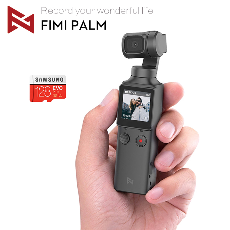 In Stock FIMI PALM Gimbal Camera With 3-Axis Stabilizer 4K HD Handheld Pocket Mini Smart Camera  Wide Angle Smart Track Osmo