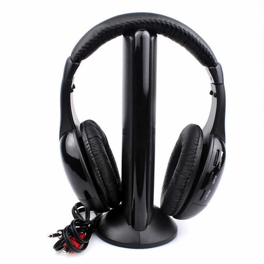 5in1 Hi-Fi Wireless Headphones Earphone Headset For PC Laptop TV FM Radio MP3 Sports Wireless Monitor  40mm Mylar #20