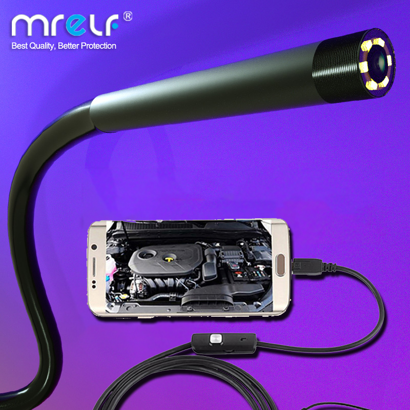 7mm 5.5mm Endoscope Camera Flexible IP67 Waterproof Micro USB industrial Endoscope Camera for Android Phone PC 6LED Adjustable