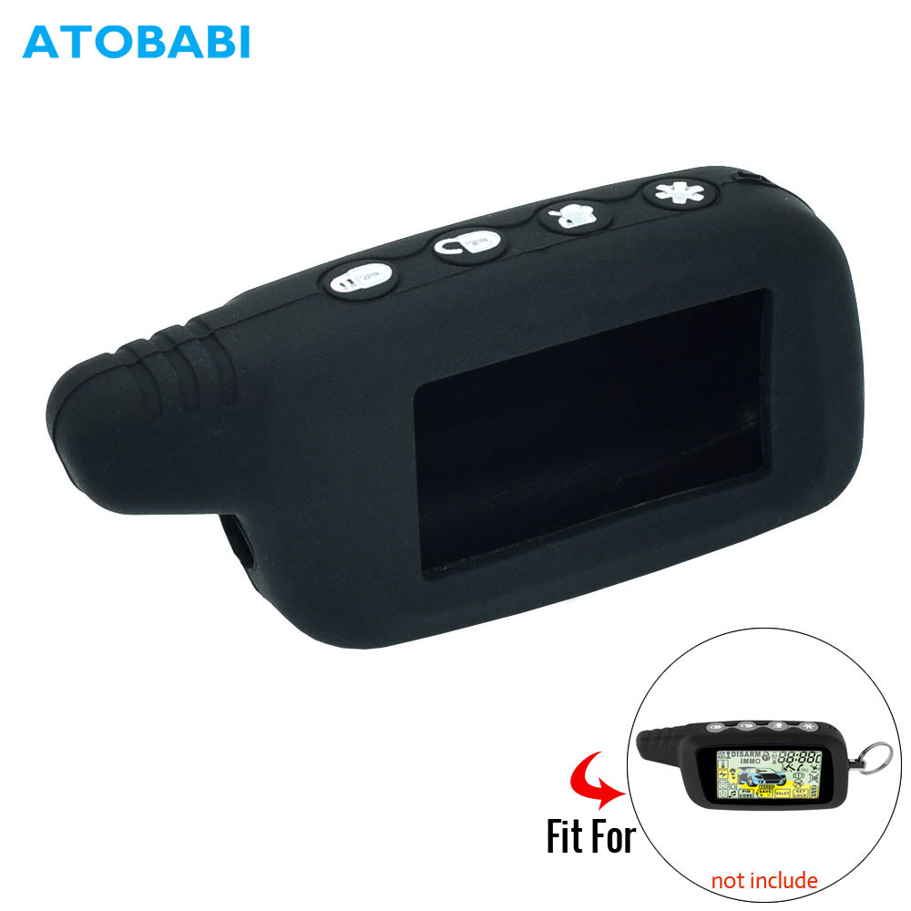 Silicone Remote Key Case For Pantera SLK 350 450 635 650 468 600RS 625RS Two-Way Car Alarm Burglar LCD Keychain Protect Cover
