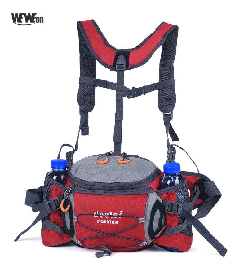 Многофункциональный дорожный рюкзак для бега, поясная сумка, мужской светильник, походный рюкзак, удобный велосипедный рюкзак для бутылки, ...