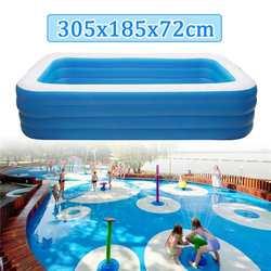 Kinder aufblasbare Pool 305x185x72cm kinder Heimgebrauch Paddeln Pool Große Größe Aufblasbare Platz Schwimmen pool Wärme Erhaltung