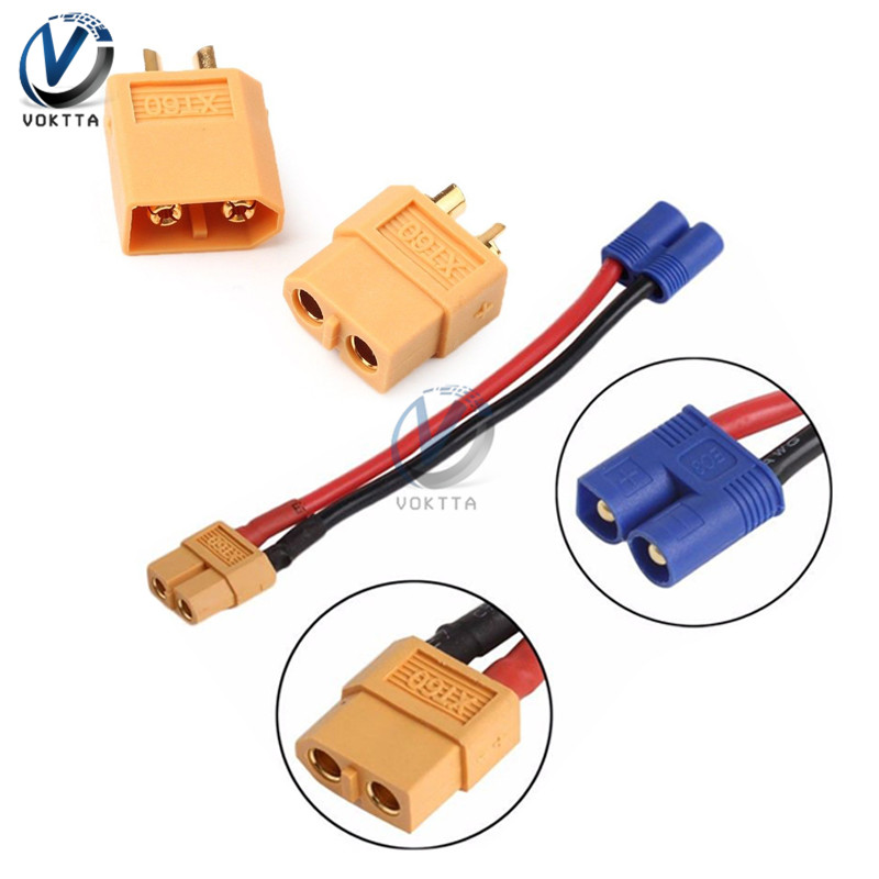 XT60 EC2 Banana Male to Female Plug Connector Bullet Connector Plug for RC Lithium Polymer Battery(China)
