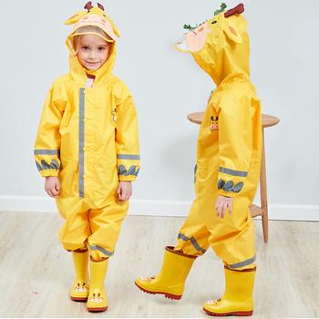 Dziecięcy płaszczyk przeciwdeszczowy oddychający płaszcz przeciwdeszczowy wodoodporny płaszcz przeciwdeszczowy dla studentów kombinezon przeciwdeszczowy z kapturem wysoka widoczność odblaskowe płaszcz przeciwdeszczowy tanie i dobre opinie CN (pochodzenie) RainWear Kids Raincoat Breathable Chlidren
