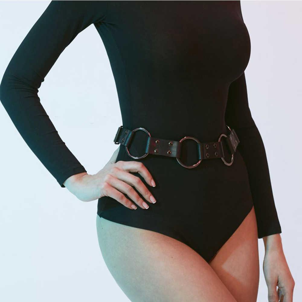 Leather Harness Women Waist Harness Bondage Leather Garter Belt Suspender Cage Body Pu Harness Belts For Women Body Pastel Goth