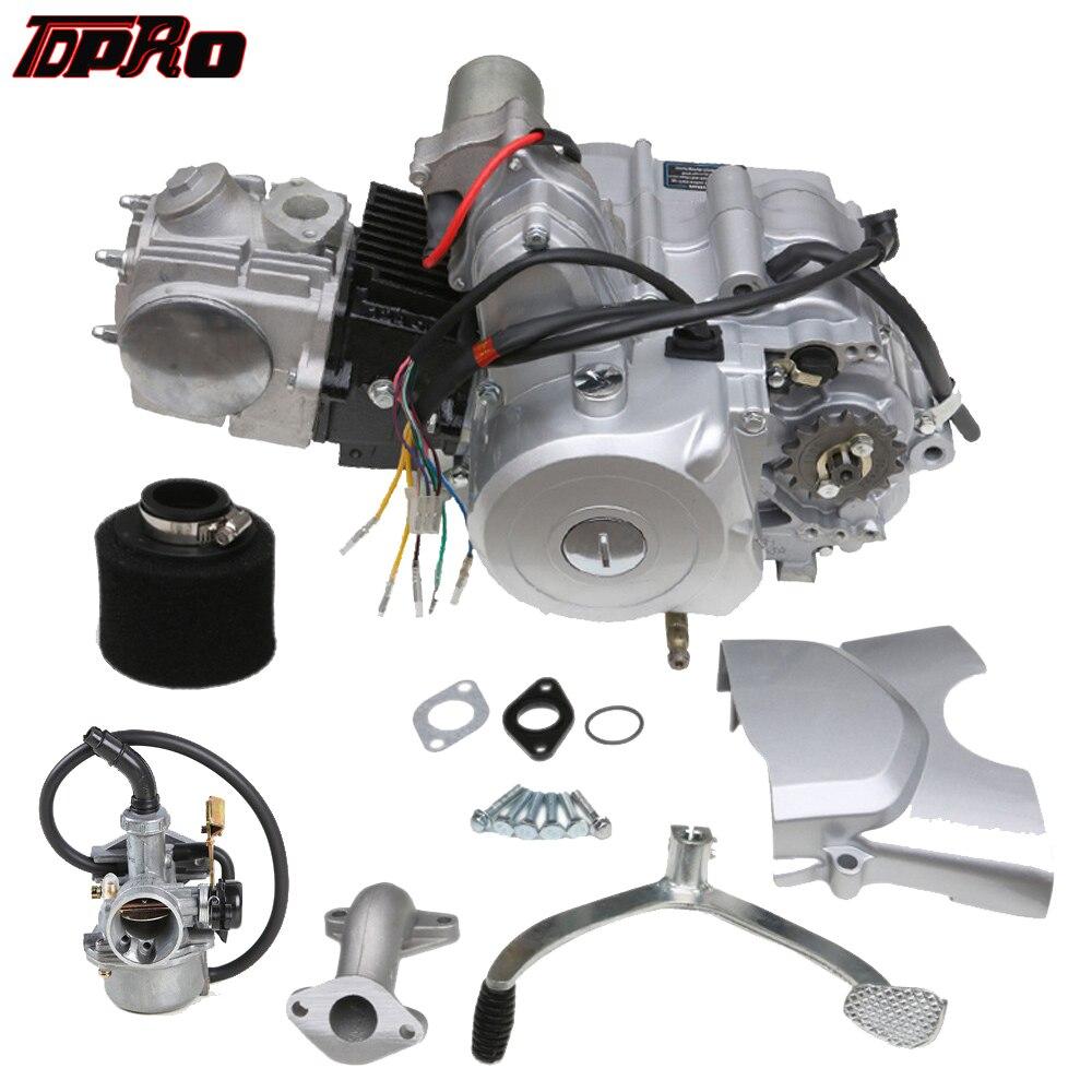 TDPRO ATV Go Kart 125cc Motor Motor Semi Auto Elektrische Vergaser Luftfilter 4 Hub Quad Tasche Pit Bike Elektrische starten