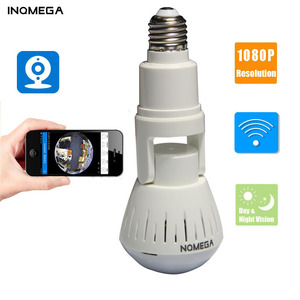 INQMEGA 1080P 360 Degree HD Panoramic Wifi IP Camera Light Bulb Home Security Video VR Camera V380 Wireless WiFi Kamera Indoor