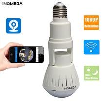 INQMEGA 1080P 360 학위 HD 파노라마 와이파이 IP 카메라 전구 홈 보안 비디오 VR 카메라 V380 무선 와이파이 카메라 실내