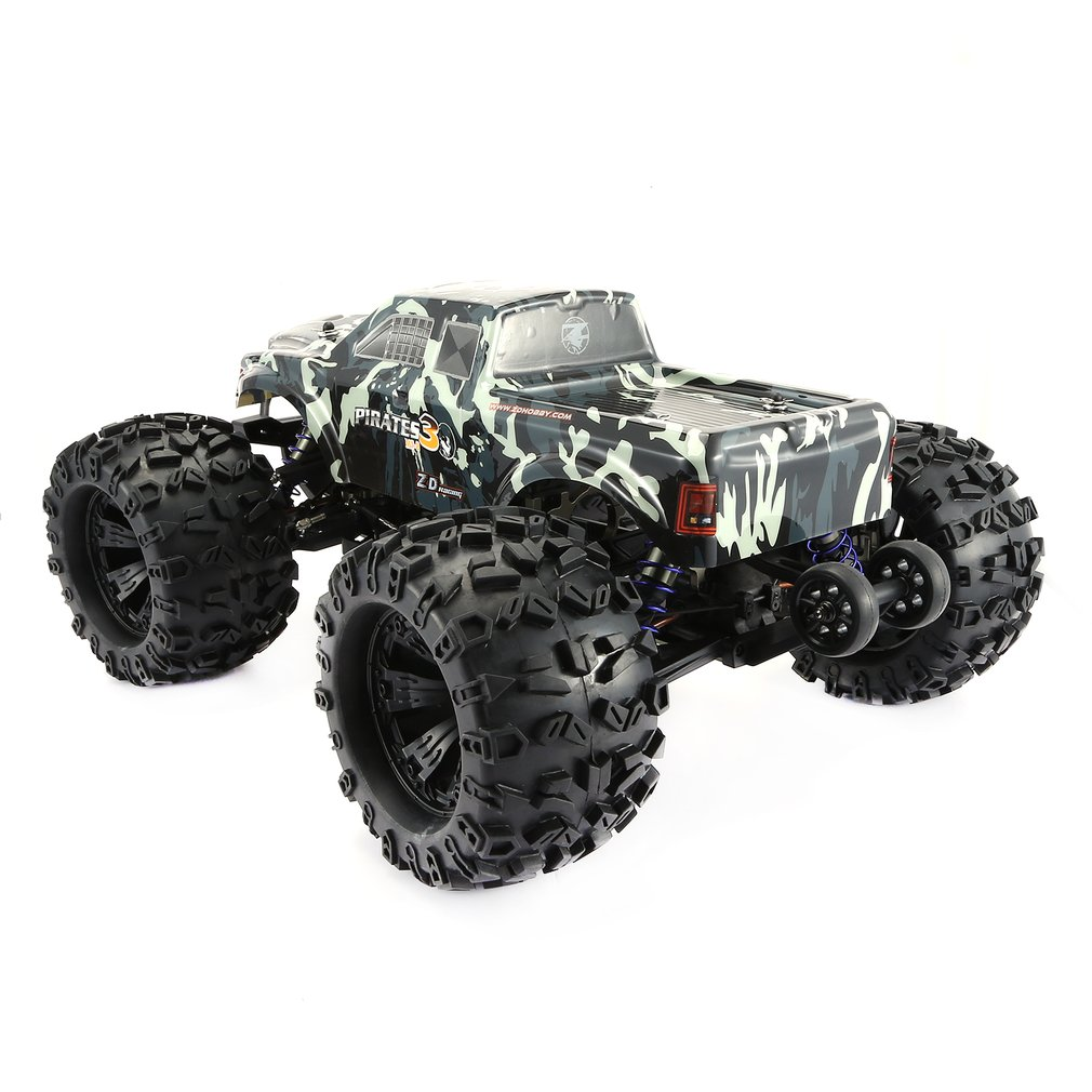 ZD RACING MT8 Pirates3 1/8 2,4G 90 km/h eléctrico sin escobillas RC coche de carreras OFF Road modelo Pie Grande monster camión RTR/Marco de coche - 6