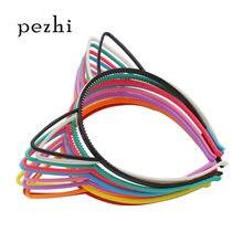 Diadema de orejas de gato para niña, accesorios para el cabello, accesorios de plástico para fiesta, diadema, joyería para niños, 5 uds., 10 Uds.
