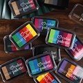 JIANWU 6 farben Morandi tinte pad briefmarken schreibwaren farbverlauf inkpad scrapbooking klar briefmarken für karte journal