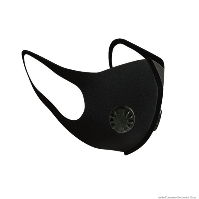 Dust Mask Double Air Valve Anti Pollution Mask Dust Mask Anti-fog Activated Carbon Filter Flu-proof Mouth Mask Outdoor
