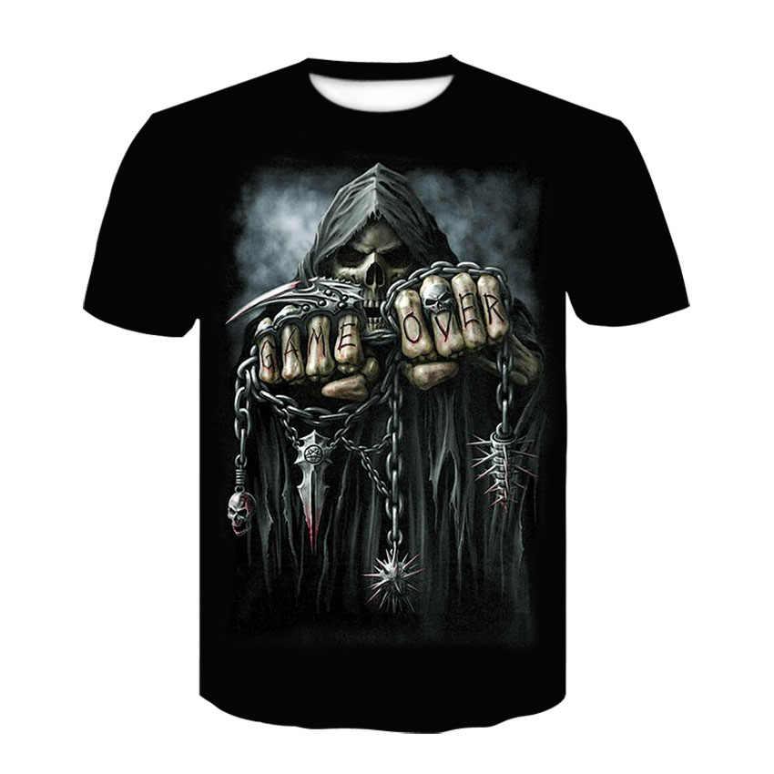 Trend w modzie odzież męska wysokiej jakości seria głowy drukowane koszulki casual odzież uliczna z krótkim rękawem topy hip-hopowe w lecie