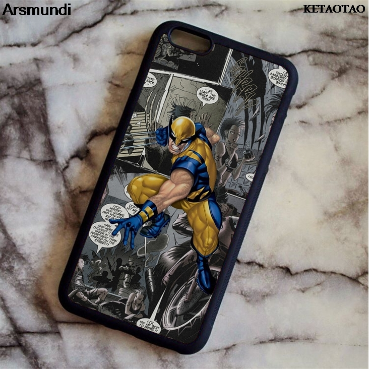 KETAOTAO Wolverine Marvel Comic X Man Phone Cases for iPhone 4S/5C/55/6/6S/7/8/X/PLUS Case Soft TPU Rubber Silicone image