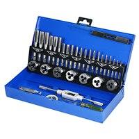 32 PCS HSS Tap Die Set Wrench Thread Cutting Engineer Kit M3 M12 Tap Die Screw Thread Making Tool Bit Set