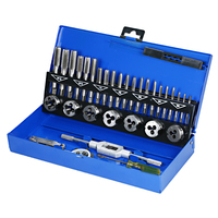 32 PCS HSS Tap Die Set Wrench Thread Cutting Engineer Kit M3 M12 Tap Die Screw Thread Making Tool Bit Set