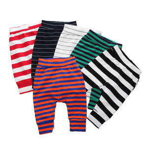 Elastic Waist Baby Pants Cotton Baby Boy Clothes Striped Loose Newborn Girl Pants Summer Infant Girls Leggings 6-24 Months