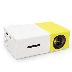 Image 1 - AAO YG300 Mini projecteur Audio YG 300 HDMI USB Mini projecteur Support 1080P lecteur multimédia maison enfant jouer YG310 cadeau Proyector