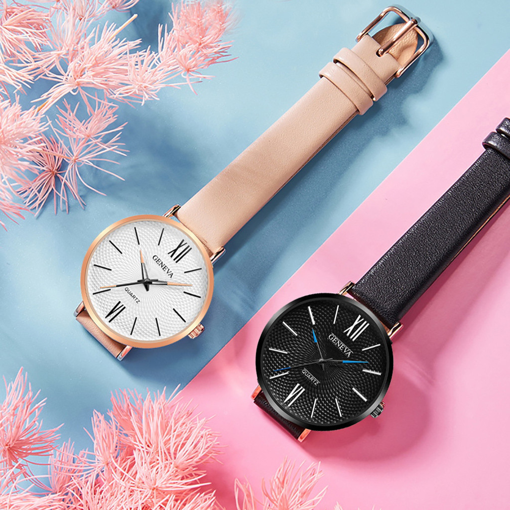 Quartz Women Watch Fashion Casual Leather Strap Ladies Watch Female Wrist Watch Woman Clock Brand Luxury Gift Relogio Feminino#W