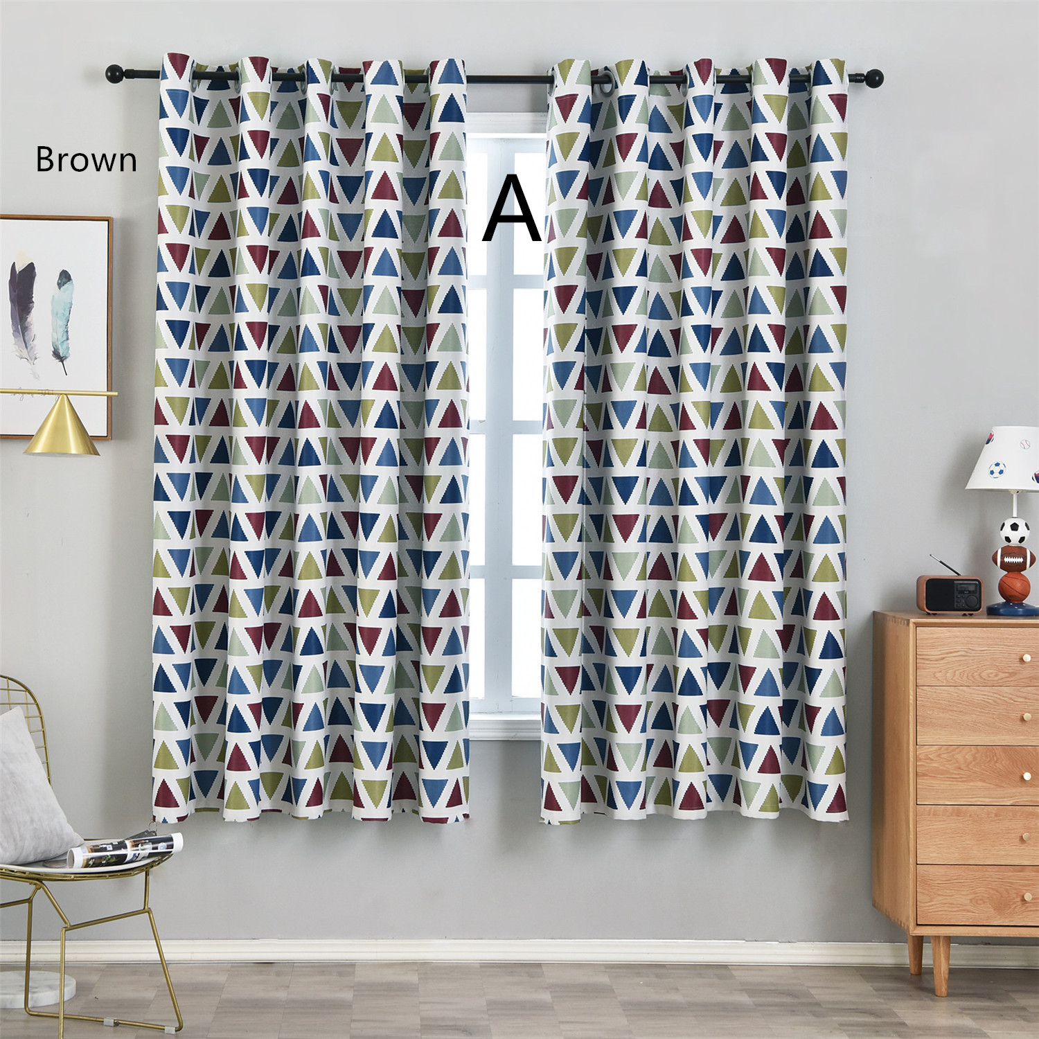 Fashion Style Geometric Short Curtains For R Living Room Bedroom High Quality Window Drapes