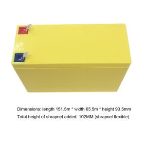 Image 2 - 32650 Lifepo4 بطارية أيون الليثيوم فوسفات صندوق حزمة 3.2V 6.4V الطاقة قوس 9.4V 12.8V ABS فارغة حالة ثابتة قذيفة 4S غطاء 12V