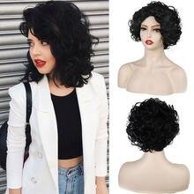 Модный женский парик miss queen Короткие вьющиеся волосы пушистые