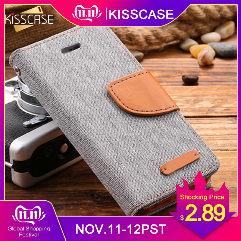 KISSCASE Stand Wallet Flip Cases For iPhone 6 6S 7 5 5S PU Leather Retro Book Card Slot Cover SE 6s Plus