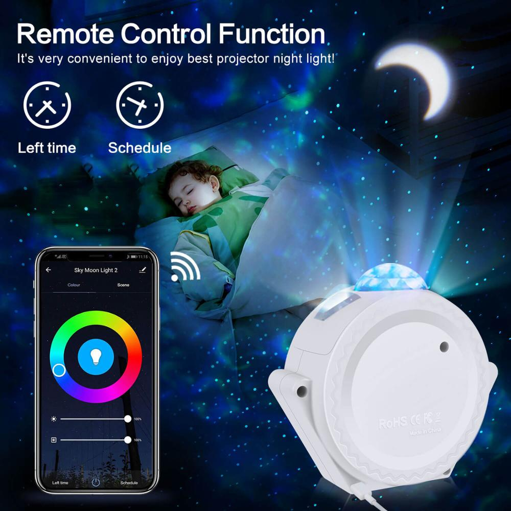 Smart APP Control Starry Sky Night Light Planet Magic Projector  Light Dimmable LED Lamp Colorful Rotate Night Light Projector