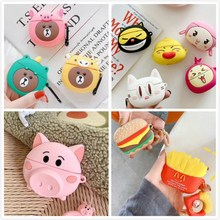 3D Cartoon Case For Airpods Pro Case Cute Silicone Bear Rabbit Pig Earpods Cover