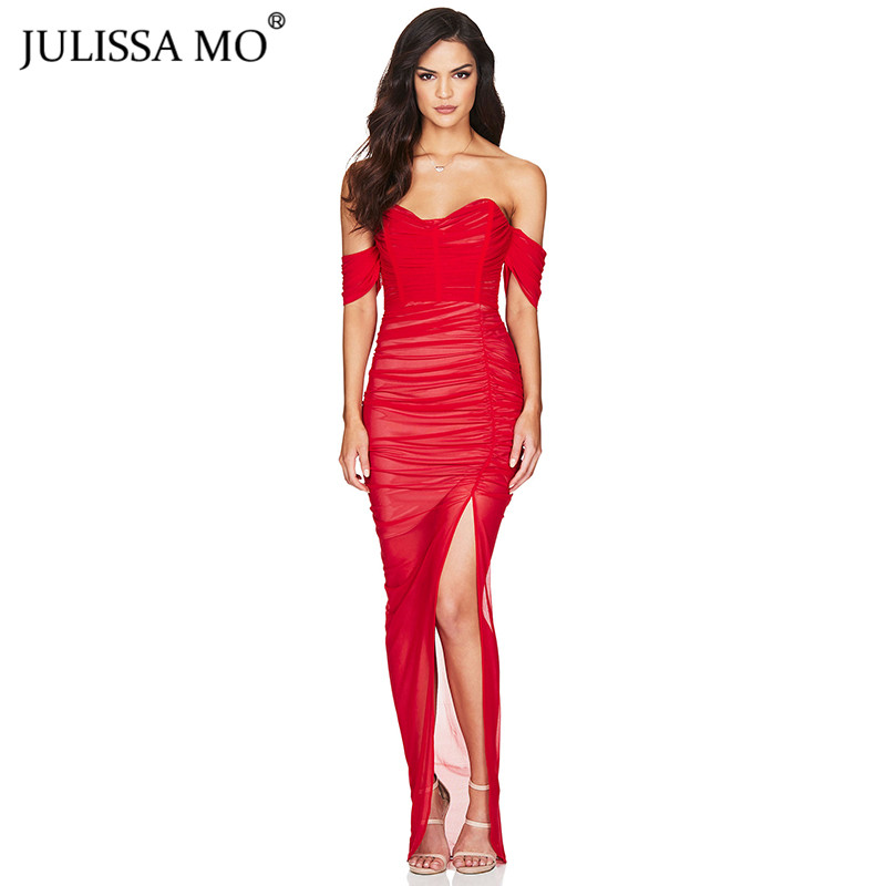 DITA-MESH-GOWN-RED-F