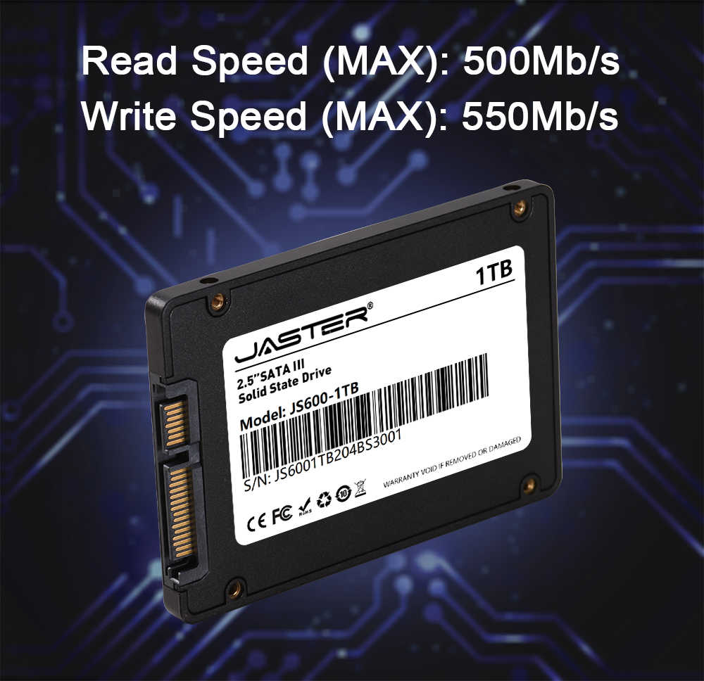 """SSD JASTER 240GB 120GB 480GB 960GB 1TB dysk twardy HDD wewnętrzne dyski półprzewodnikowe 2.5 """"500GB 256GB Laptop stacjonarny"""