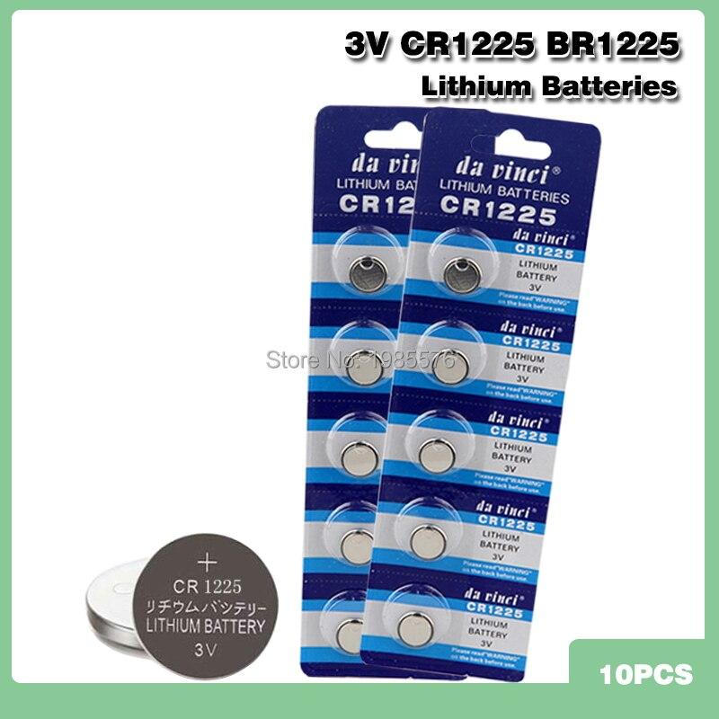10 шт. 3 в CR1225 монет батареи LM1225 BR1225 ECR1225 KCR1225 для электронных инструментов дистанционного управления электронные весы