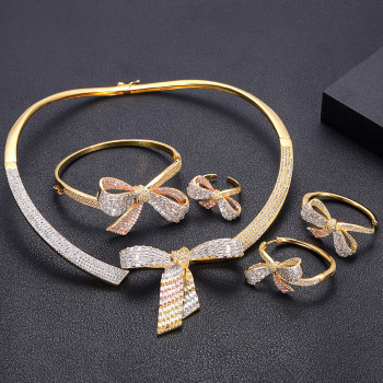4pcs bridal jewellery Set