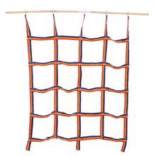 250kg Outdoor Rainbow Ribbon Net Physical Training Climbing Net Child Playground Swing Hanging Step Ladder For Daily Sports