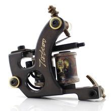 Ambition Handmade Machine Tattoo Gun Coil Machine 8 Wraps Shader Liner Pure Copper  Tattoo Machine недорого