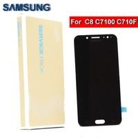 ORIGINAL 5.5'' Super AMOLED C8 LCD For Samsung Galaxy C8 C7100 C710F LCD display touch screen digitizer+ brightness adjustme