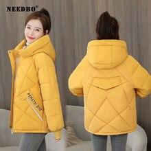 Женская Стеганая куртка needbo зимняя теплая парка с капюшоном