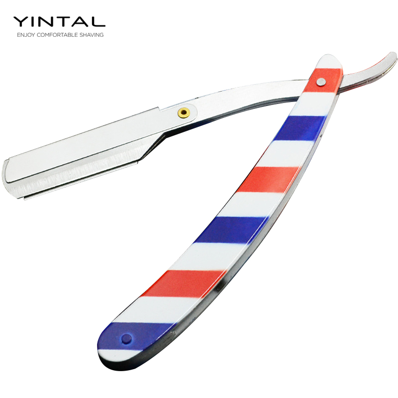 Men Shaving Barber Tools Hair Razor And Blades Antique Fashion Color Folding Shaving Knife Stainless Steel Straight Razor Holder