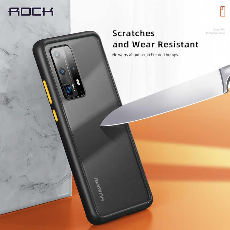 ROCK untuk Huawei P40 Pro P40 Case Matte Telepon Yang Jelas Shockproof Perlindungan Soft + Hard Hibrida Case untuk Huawei P40 P 40 Cover