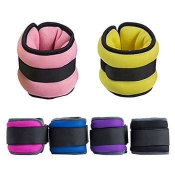 0.5KG/1KG Leg Ankle Wrist Sand Bag Weights Training Sandbag Wraps Strength Adjustable Gym Fitness Equipment Workout Hand Wrap 1kg bag 100