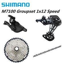 SHIMANO SLX M7100 4PCS 1X12 12ความเร็ว10 51T Groupset SL + RD + CS + HG M7100 Shifterด้านหลังDerailleur Cassette Chain M7120 SGS 10 45T