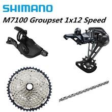 SHIMANO SLX M7100 4PCS 1x12 12Speed 10 51T Groupset SL+RD+CS+HG M7100 Shifter Rear Derailleur Cassette Chain M7120 SGS 10 45T