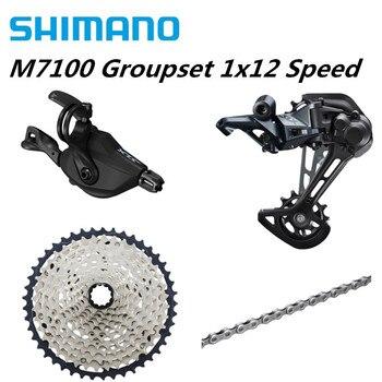 SHIMANO SLX M7100 4PCS 1x12 12Speed 10-51T Groupset SL+RD+CS+HG M7100 Shifter Rear Derailleur Cassette Chain M7120 SGS 10-45T