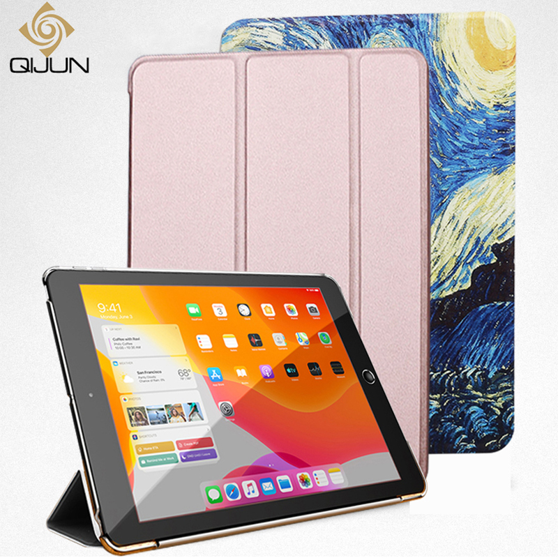 Case For IPad 5 6 9.7'' 2017 2018 Flip Trifold Stand Case PU Leather Full Smart Auto Wake Cover For Ipad 5th 6th Generation Case
