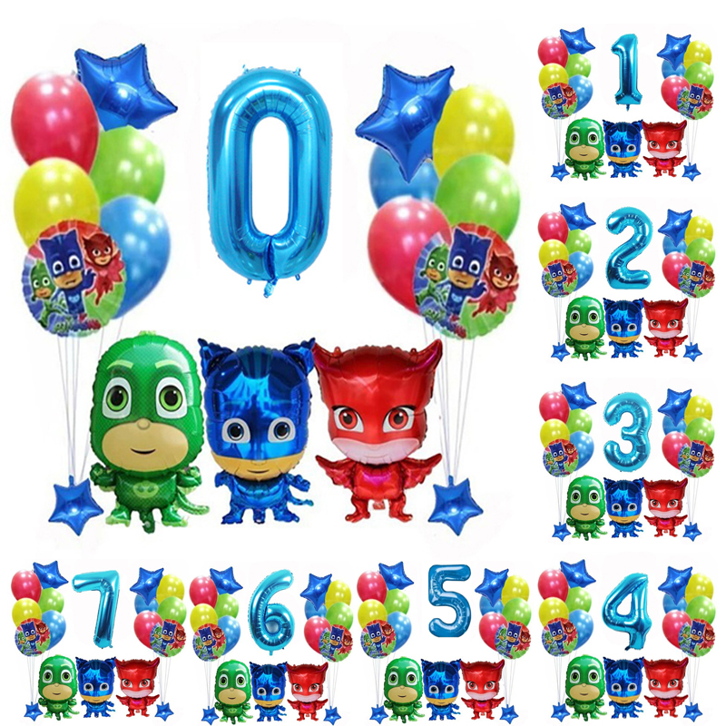New Hot Original Pj Masks Birthday Party Room Decoration Pj Mask Juguete Cartoon Anmie Figures Balloons Kids Toys for Children|Toy Sports| |  - title=