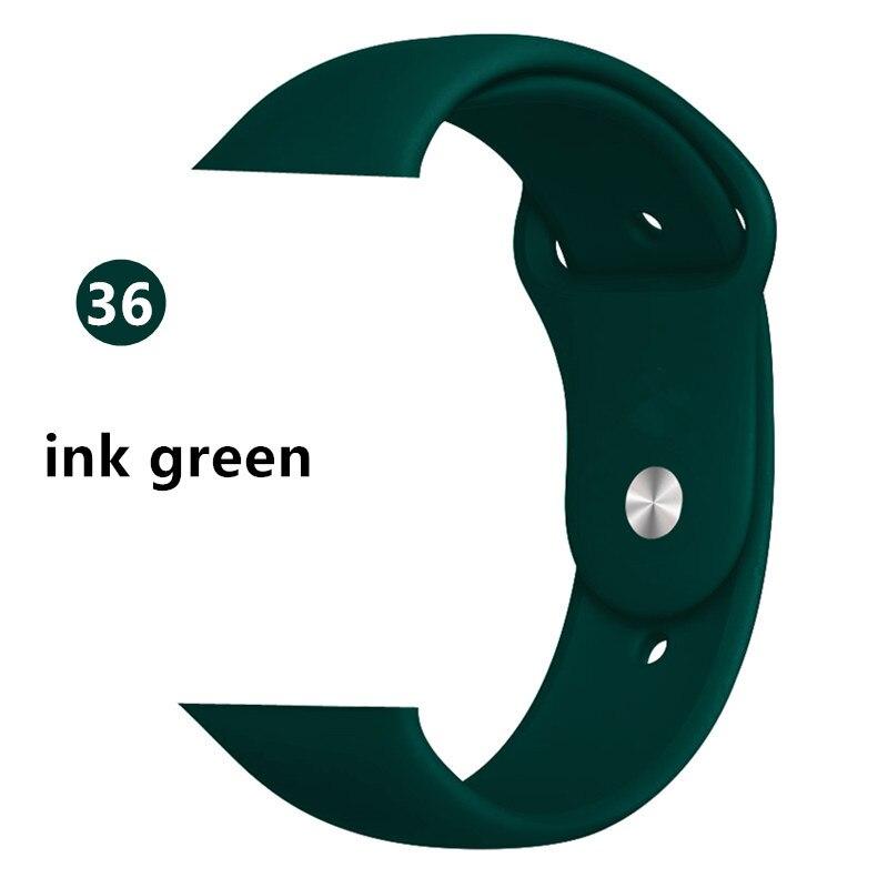 Ремешок для apple watch band 44 мм/40 мм iwatch band 5 4 42 мм 38 мм correa pulseira watch band для apple watch 5 4 3 браслет 44 мм - Цвет ремешка: ink Green